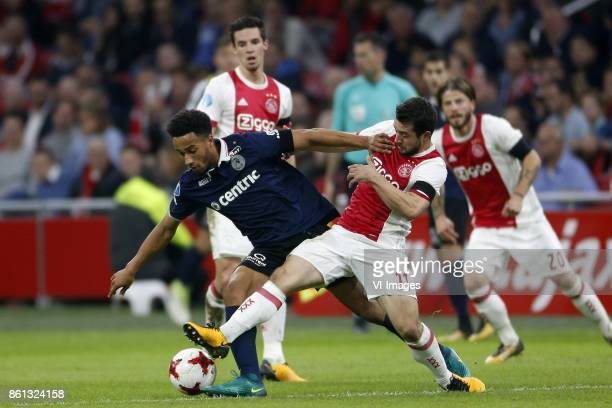 Sherel Floranus of Sparta Rotterdam Amin Younes of Ajax during the Dutch Eredivisie match between Ajax Amsterdam and Sparta Rotterdam at the...