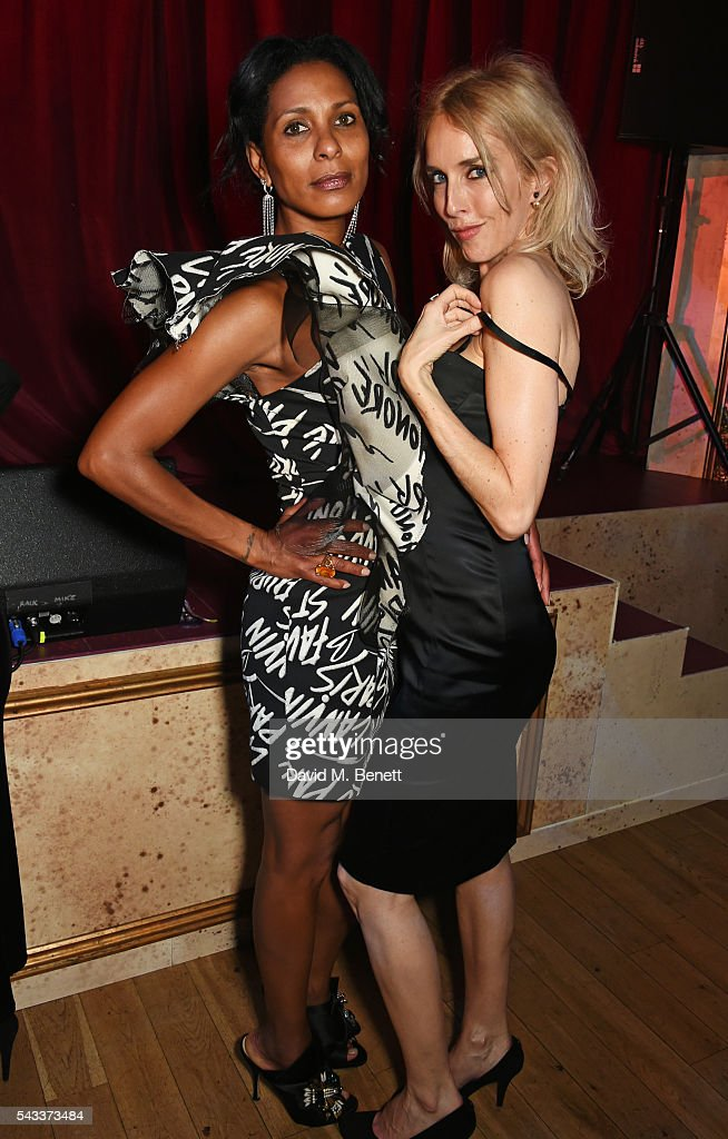 Sherett Dahlstrom (L) and Sarah Woodhead attend the Summer Gala for The Old Vic at The Brewery on June 27, 2016 in London, England.