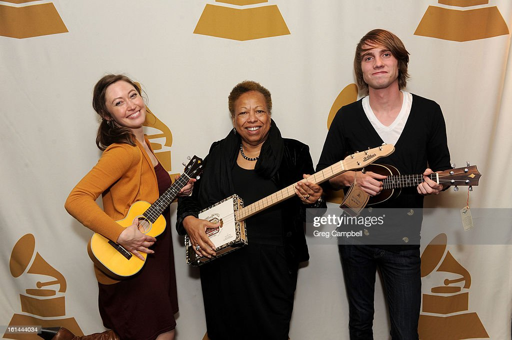 Sheri Carr, Patricia Snell and Calab Block attend the 55th Annual GRAMMY Awards Telecast Party at Hard Rock Cafe on February 10, 2013 in Chicago, Illinois.