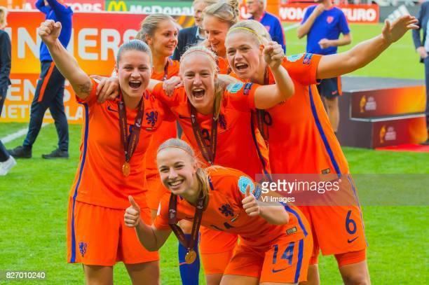 Sherida Spitse of Holland Women Stefanie van der Gragt of Holland Women Jackie Groenen of Holland Women Anouk Dekker of Holland Women during the UEFA...