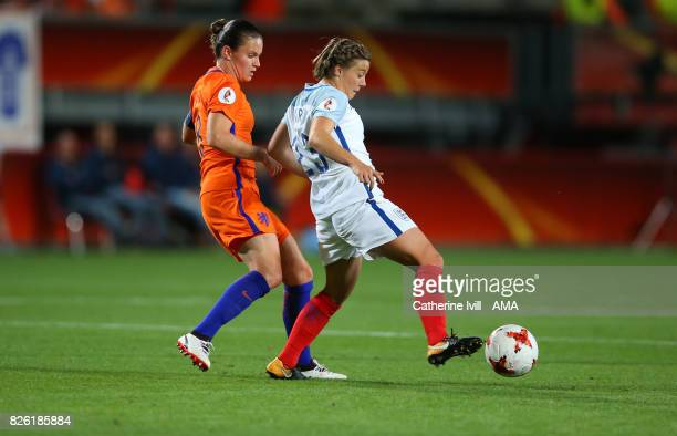 Sherida Spitse of Netherlands Women and Francesca Kirby of England Women during the UEFA Women's Euro 2017 semi final match between Netherlands and...