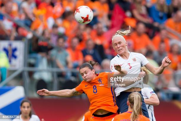 Sherida Spitse of the Netherlands and Maria Thorisdottir of Norway battle for the ball during their Group A match between Netherlands and Norway...