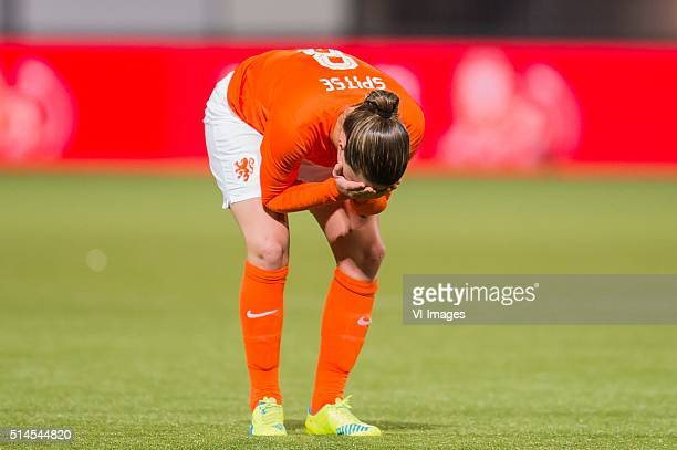 Sherida Spitse of the Netherlands during the 2016 UEFA Women's Olympic Qualifying Tournament match between Netherlands and Sweden on March 9 2016 at...