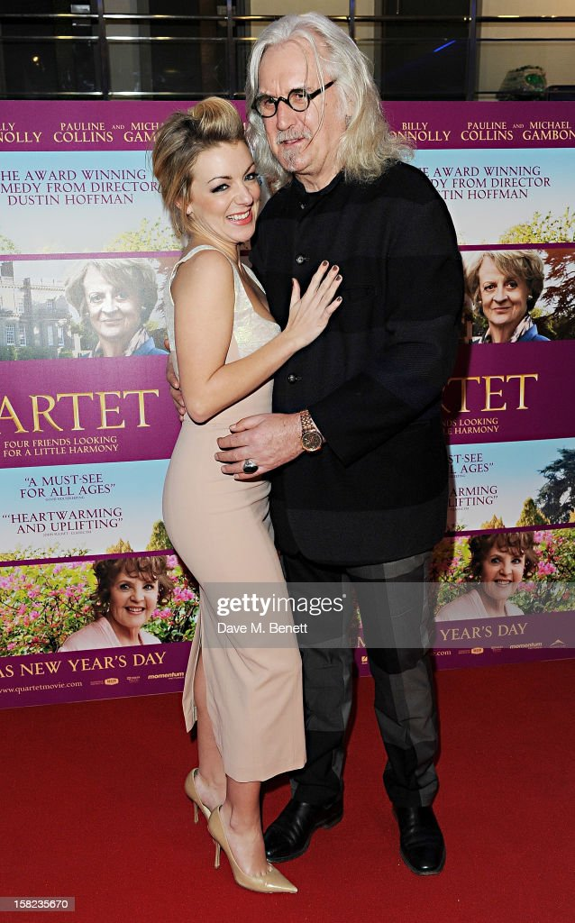 Sheridan Smith (L) and Billy Connolly attend a Gala Screening of 'Quartet' at Odeon West End on December 11, 2012 in London, England.