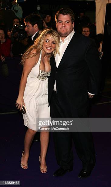 Sheridan Smith and guest arrives at the British Comedy Awards 2007 at the London Television Studios on December 5 2007 in London England