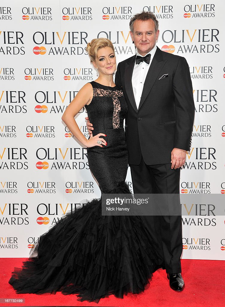 Sheridan Smith and Hugh Bonneville attend The Laurence Olivier Awards at The Royal Opera House on April 28, 2013 in London, England.