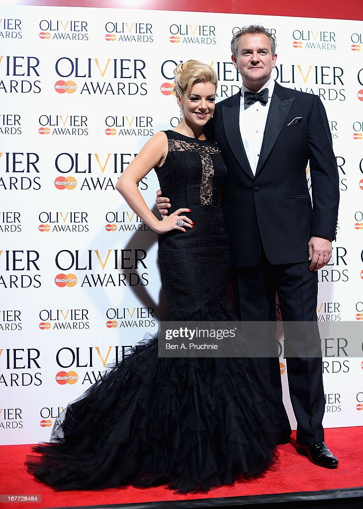 Sheridan Smith and Hugh Bonneville during The Laurence Olivier Awards at the Royal Opera House on April 28, 2013 in London, England.