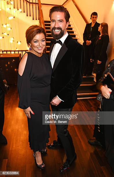 Sheridan Smith and Jack Guinness attend a cocktail reception at The 62nd London Evening Standard Theatre Awards recognising excellence from across...