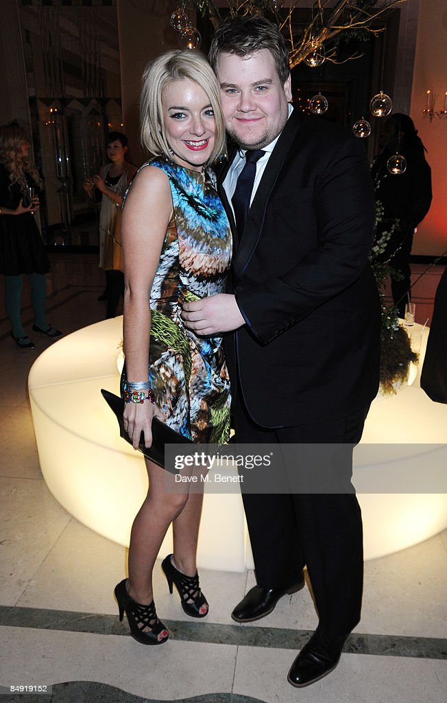 <a gi-track='captionPersonalityLinkClicked' href=/galleries/search?phrase=Sheridan+Smith&family=editorial&specificpeople=4159304 ng-click='$event.stopPropagation()'>Sheridan Smith</a> and <a gi-track='captionPersonalityLinkClicked' href=/galleries/search?phrase=James+Corden&family=editorial&specificpeople=673860 ng-click='$event.stopPropagation()'>James Corden</a> attend the Universal Party following the Brit Awards 2009 at the Claridge's Hotel on February 18, 2009 in London, England.