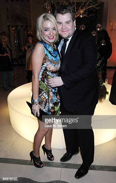 Sheridan Smith and James Corden attend the Universal Party following the Brit Awards 2009 at the Claridge's Hotel on February 18 2009 in London...
