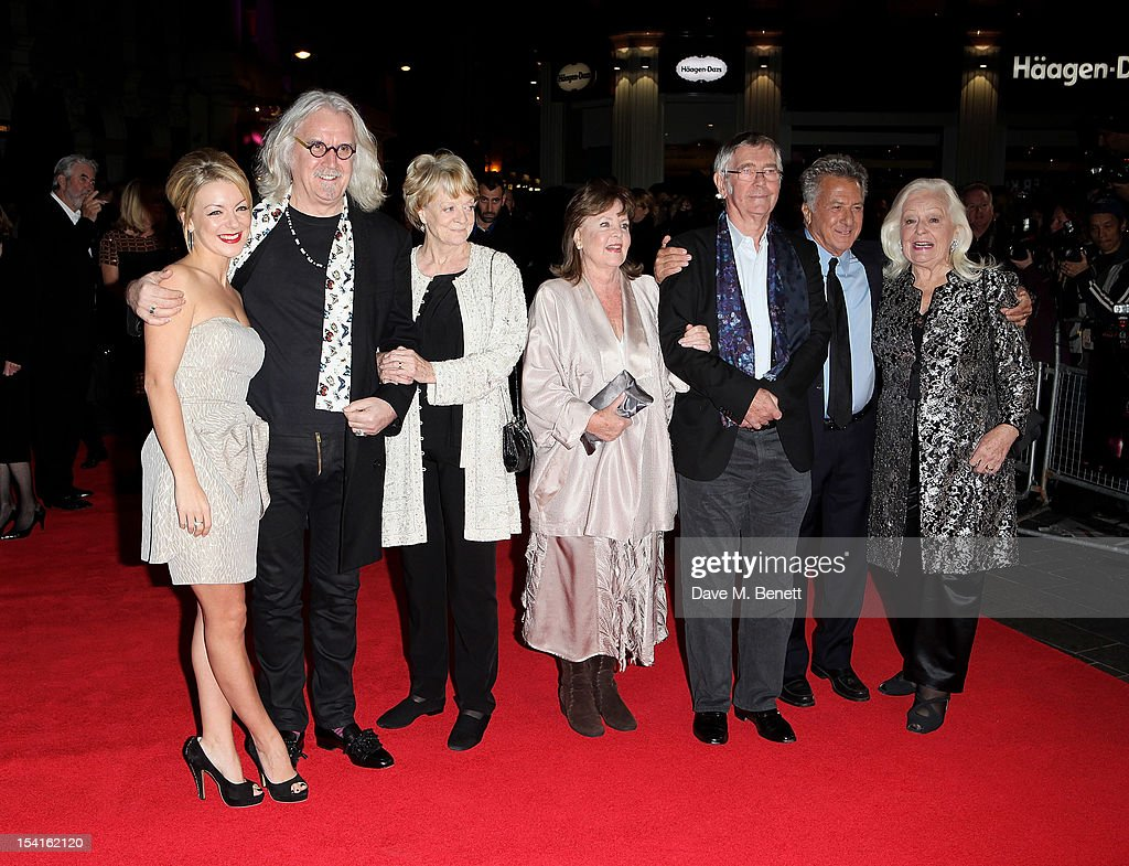 Sheridan Smith, Billy Connolly, Dame Maggie Smith, Pauline Collins, Tom Courtenay, director Dustin Hoffman and Dame Gwyneth Jones attend the Premiere of 'Quartet' during the 56th BFI London Film Festival at Odeon Leicester Square on October 15, 2012 in London, England.