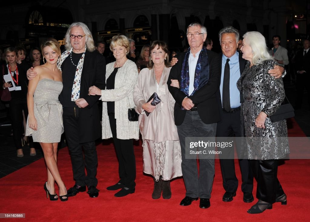 <a gi-track='captionPersonalityLinkClicked' href=/galleries/search?phrase=Sheridan+Smith&family=editorial&specificpeople=4159304 ng-click='$event.stopPropagation()'>Sheridan Smith</a>, <a gi-track='captionPersonalityLinkClicked' href=/galleries/search?phrase=Billy+Connolly&family=editorial&specificpeople=208248 ng-click='$event.stopPropagation()'>Billy Connolly</a>, Dame <a gi-track='captionPersonalityLinkClicked' href=/galleries/search?phrase=Maggie+Smith&family=editorial&specificpeople=206821 ng-click='$event.stopPropagation()'>Maggie Smith</a>, Pauline Collins, <a gi-track='captionPersonalityLinkClicked' href=/galleries/search?phrase=Tom+Courtenay&family=editorial&specificpeople=699230 ng-click='$event.stopPropagation()'>Tom Courtenay</a> and <a gi-track='captionPersonalityLinkClicked' href=/galleries/search?phrase=Dustin+Hoffman&family=editorial&specificpeople=171356 ng-click='$event.stopPropagation()'>Dustin Hoffman</a> attend the Premiere of 'Quartet' during the 56th BFI London Film Festival at Odeon Leicester Square on October 15, 2012 in London, England.