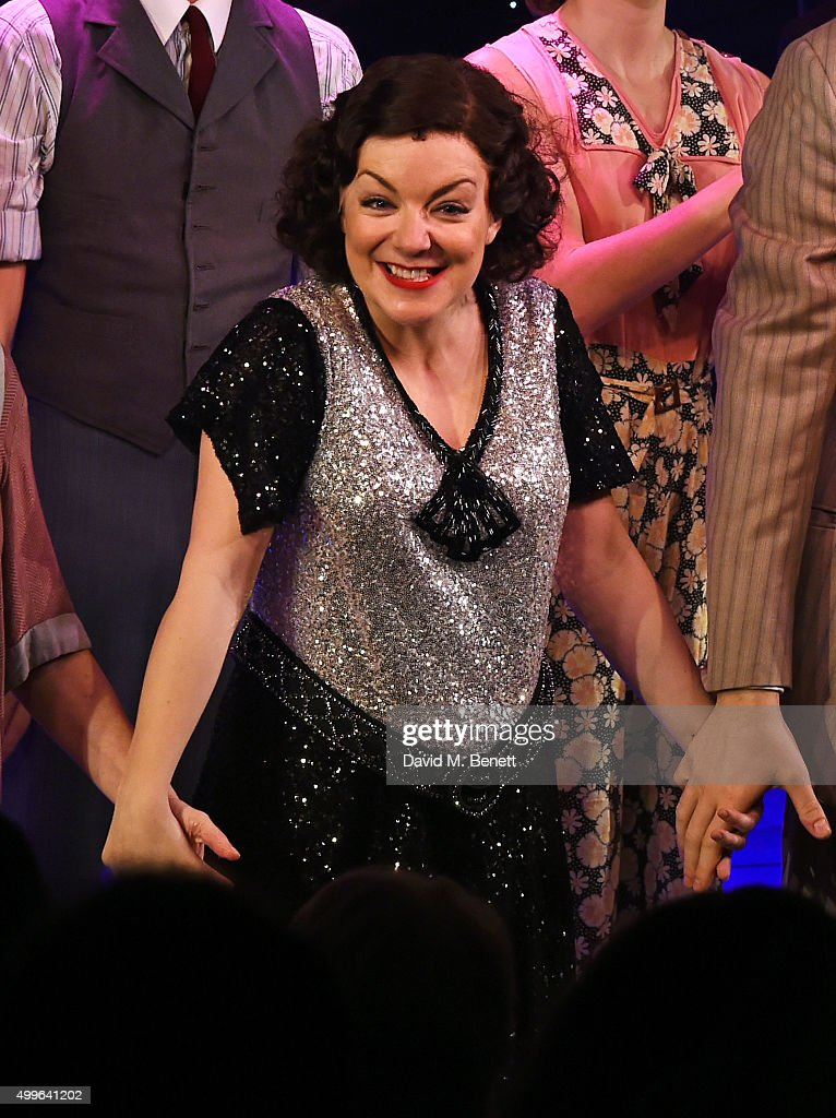 Sheridan Smith bows at the curtain call during the press night after party for 'Funny Girl' at the Menier Chocolate Factory on December 2 2015 in...