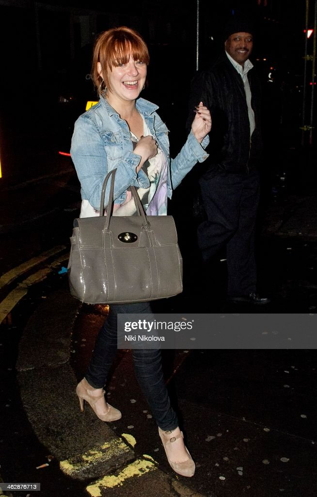 Sheridan Smith is seen leaving the Groucho Club Soho on January 15 2014 in London England