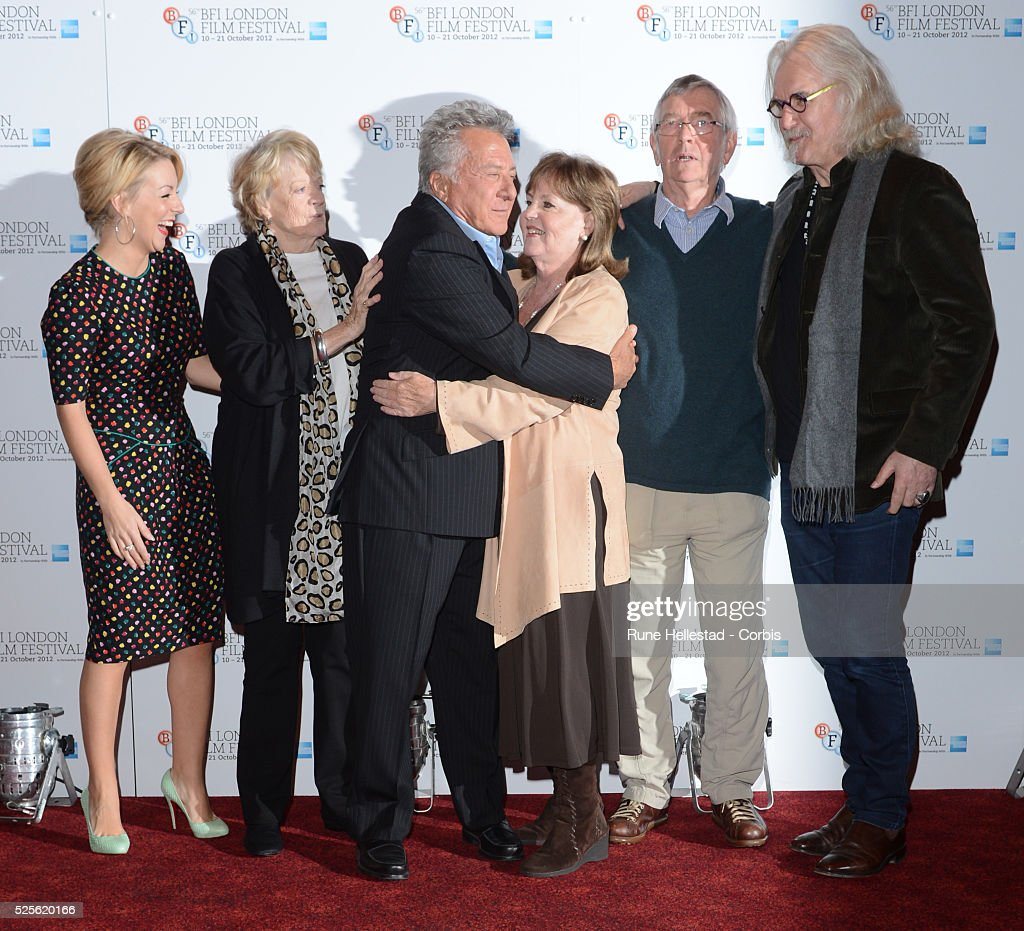 Sheridan Smith Maggie Smith Dustin Hoffman Pauline Collins Tom Courtney and Billy Connolly attend a photo call for Quartet at The BFI London Film...