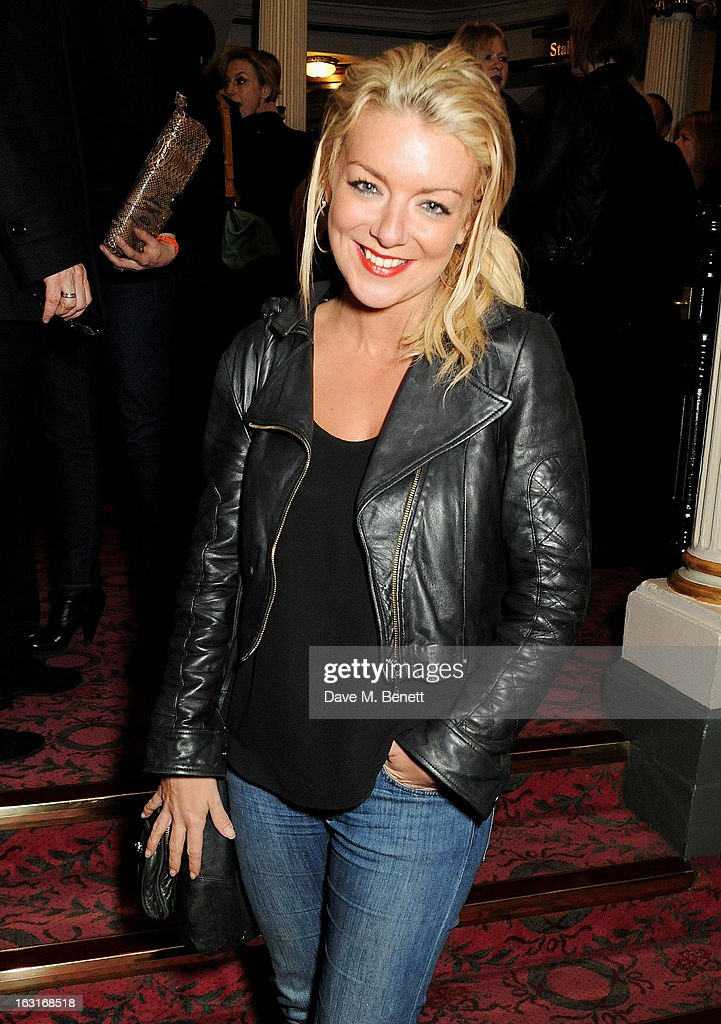 <a gi-track='captionPersonalityLinkClicked' href=/galleries/search?phrase=Sheridan+Smith&family=editorial&specificpeople=4159304 ng-click='$event.stopPropagation()'>Sheridan Smith</a> poses in the foyer following the press night performance of 'The Audience' at the Gielgud Theatre on March 5, 2013 in London, England.