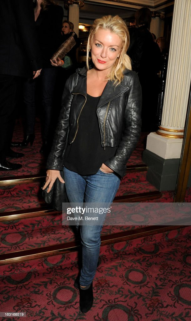 Sheridan Smith poses in the foyer following the press night performance of 'The Audience' at the Gielgud Theatre on March 5, 2013 in London, England.