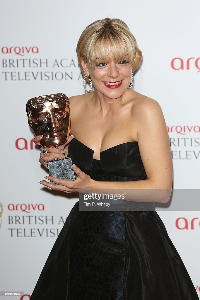 Sheridan Smith poses with her award for Best Actress during the Arqiva British Academy Television Awards 2013 at the Royal Festival Hall on May 12, 2013 in London, England.