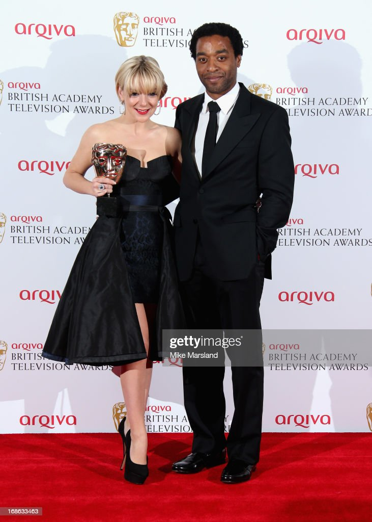 Sheridan Smith with her Best Actress award and presenter Chiwetel Ejiofor during the Arqiva British Academy Television Awards 2013 at the Royal Festival Hall on May 12, 2013 in London, England.