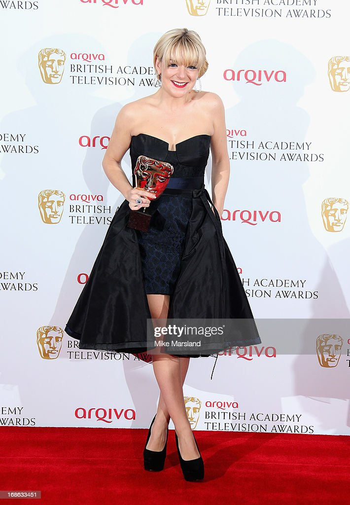 Sheridan Smith with her Best Actress award during the Arqiva British Academy Television Awards 2013 at the Royal Festival Hall on May 12, 2013 in London, England.