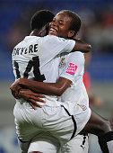 Sherifatu Sumaila of Ghana celebrates victory during the FIFA U17 Women's World Cup 2012 QuaterFinal match between Japan an Ghana at the 8km Stadium...