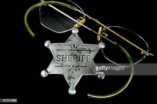 Sheriff Badge on Black