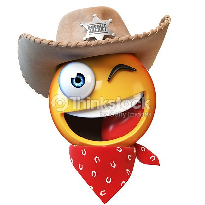 fc517bb0 Sheriff Emoji Isolated On White Background Stock Photo - Thinkstock