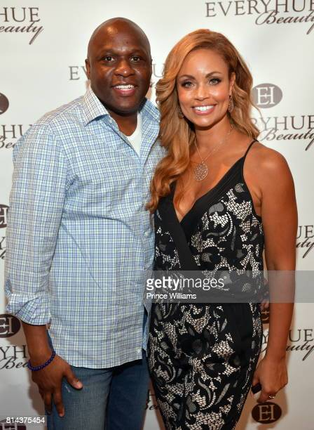 Sherman Douglas and Gizelle Bryant attend EveryHue PopUp Shop at Swagg Boutique on July 13 2017 in Atlanta Georgia
