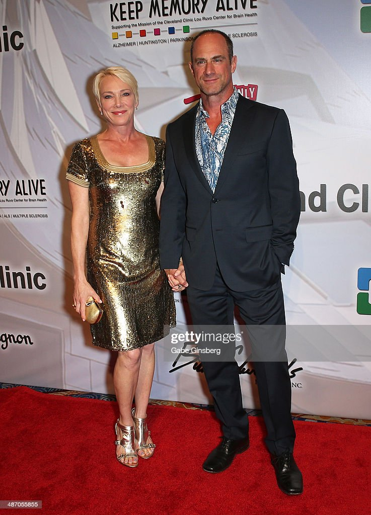 Sherman Meloni (L) and her husband, actor Christopher Meloni attend the 18th annual Keep Memory Alive 'Power of Love Gala' benefit for the Cleveland Clinic Lou Ruvo Center for Brain Health honoring Gloria Estefan and Emilio Estefan Jr. at the MGM Grand Garden Arena on April 26, 2014 in Las Vegas, Nevada.