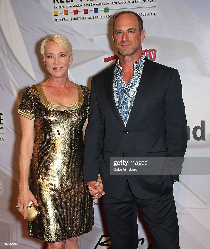 Sherman Meloni (L) and her husband, actor <a gi-track='captionPersonalityLinkClicked' href=/galleries/search?phrase=Christopher+Meloni&family=editorial&specificpeople=220830 ng-click='$event.stopPropagation()'>Christopher Meloni</a> attend the 18th annual Keep Memory Alive 'Power of Love Gala' benefit for the Cleveland Clinic Lou Ruvo Center for Brain Health honoring Gloria Estefan and Emilio Estefan Jr. at the MGM Grand Garden Arena on April 26, 2014 in Las Vegas, Nevada.