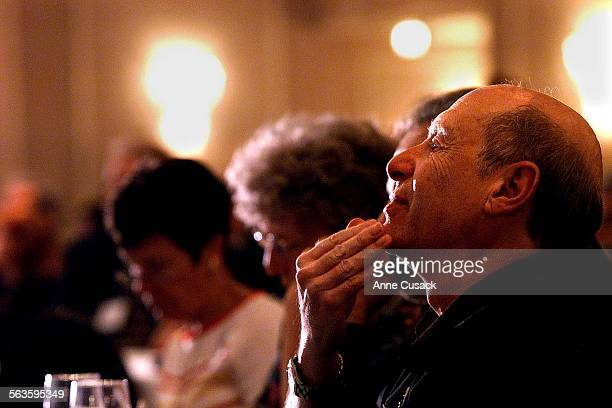 Sherman Oaks businessman Boris Smorodinsky listens to a speaker during The Business Perspective at the Sportmans Lodge in Studio City where a...