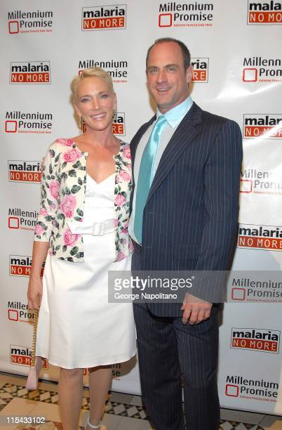 Sherman Williams and Christopher Meloni during Millennium Promise and Malaria No More Hold a Joint Benefit to Fight Extreme Poverty and Disease in...