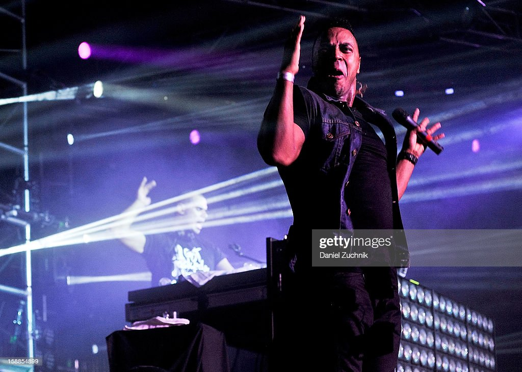 Shermanology performs with Afrojack at Jacked New Year's Eve 2013 at Pier 94 on December 31, 2012 in New York City.