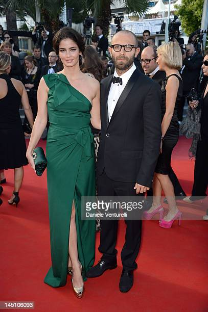 Shermine Shahrivar and guest attend the 'On The Road' Premiere during the 65th Annual Cannes Film Festival at Palais des Festivals on May 23 2012 in...