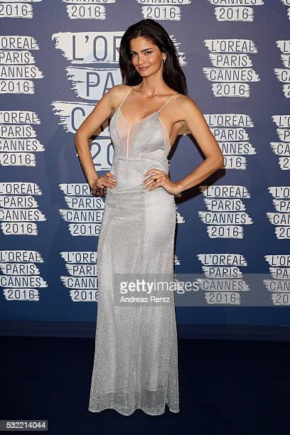 Shermine Shahrivar attends the L'Oreal Paris Blue Obsession Party at the annual 69th Cannes Film Festival at Hotel Martinez on May 18 2016 in Cannes...