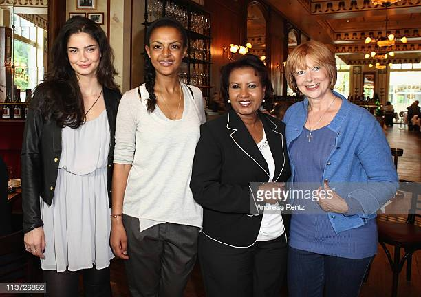 Shermine Shahrivar Dennenesch Zoude Almaz Boehm and Ursela Monn attend the Menschen fuer Menschen Karlheinz Boehm charity matinee on May 5 2011 in...