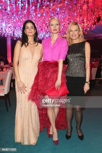 Shermine Shahrivar Franziska Knuppe and Nina Ruge during the first INHORGENTA AWARD at Postpalast on February 19 2017 in Munich Germany
