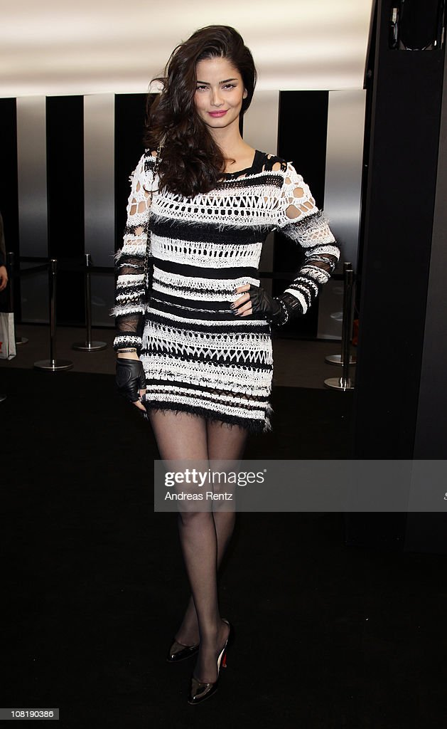 Shermine Sharivar arrives at the Lala Berlin Show during the Mercedes Benz Fashion Week Autumn/Winter 2011 at Bebelplatz on January 19 2011 in Berlin...