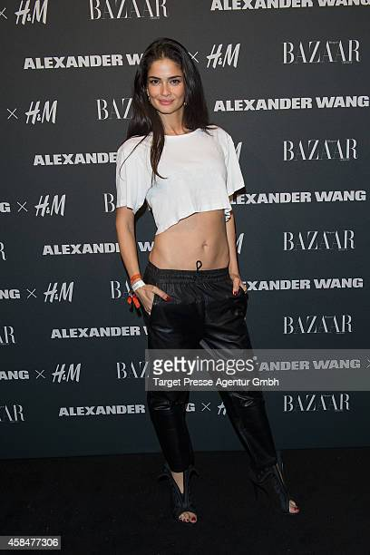 Shermine Sharivar attends the Alexander Wang X HM collection preshopping event at Platoon Kunsthalle on November 5 2014 in Berlin Germany