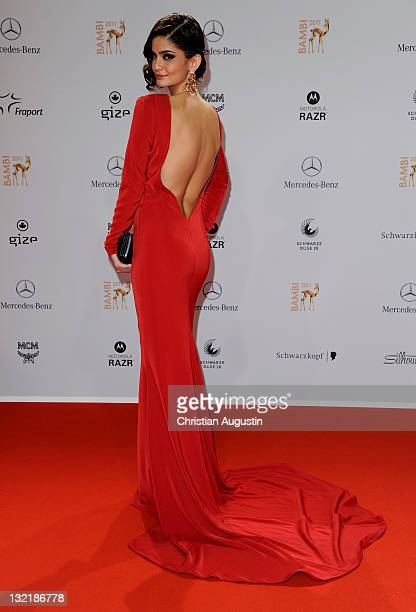 Shermine Sharivar attends the Red Carpet for the Bambi Award 2011 ceremony at the RheinMainHallen on November 10 2011 in Wiesbaden Germany