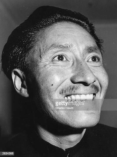 Sherpa Tensing Norgay the Nepalese mountaineer who together with Edmund Hillary on Colonel John Hunt's expedition succeeded in reaching the summit of...