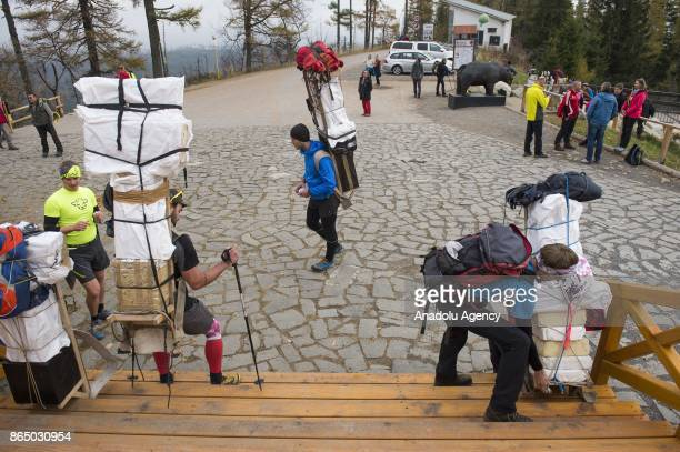 Sherpas take part in the annual Sherpa Rally competition in Tatra Mountains Stary Smokovec Slovakia on October 22 2017 The sherpa rally competition...