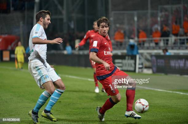 Sherrer MAXWELL / Andre Pierre GIGNAC Paris Saint Germain / Marseille 8e journee Ligue 1 Photo Dave Winter / Icon Sport