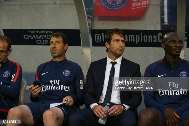 Sherrer Maxwell ex players and now a part of the coaching staff of Paris SaintGermain during the International Champions Cup match between Paris...