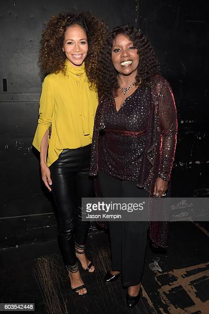 Sherri Saum and Gloria Gaynor backstage at the 2nd Annual Voices For The Voiceless Stars For Foster Kids Benefit at the Al Hirschfeld Theatre on...