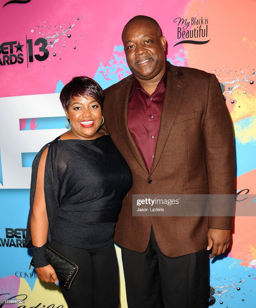 <a gi-track='captionPersonalityLinkClicked' href=/galleries/search?phrase=Sherri+Shepherd&family=editorial&specificpeople=693379 ng-click='$event.stopPropagation()'>Sherri Shepherd</a> and husband Lamar 'Sal' Sally attend Debra L. Lee's 7th annual VIP pre BET dinner event at Milk Studios on June 29, 2013 in Los Angeles, California.