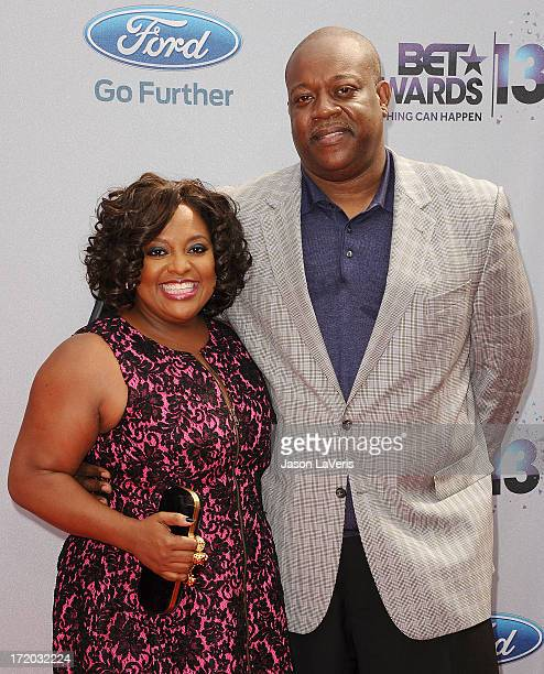 Sherri Shepherd and husband Lamar 'Sal' Sally attend the 2013 BET Awards at Nokia Theatre LA Live on June 30 2013 in Los Angeles California