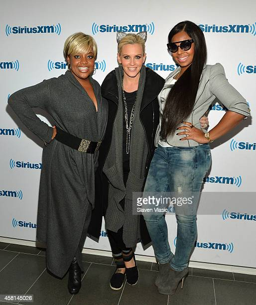 Sherri Shepherd Jenny McCarthy and Ashanti visit SiriusXM Studios on October 30 2014 in New York City