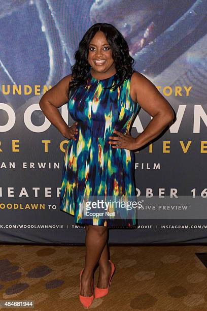 Sherri Shepherd poses before a screening of 'Woodlawn' during MegaFest at the Dallas Convention Center on August 20 2015 in Dallas Texas