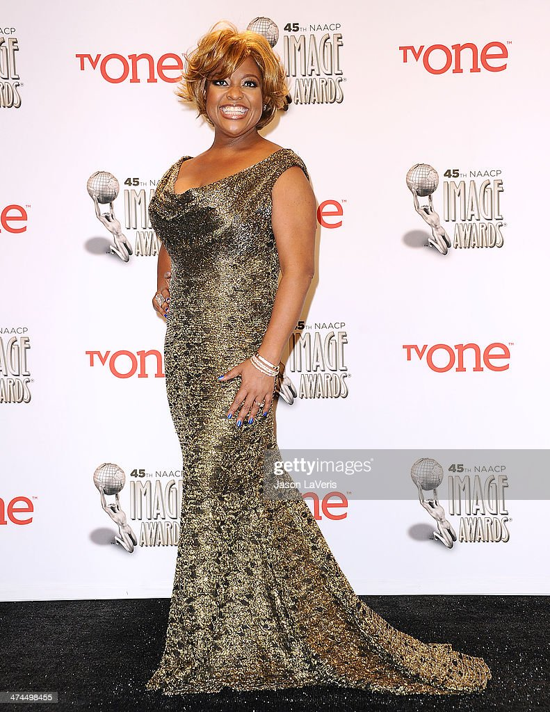 <a gi-track='captionPersonalityLinkClicked' href=/galleries/search?phrase=Sherri+Shepherd&family=editorial&specificpeople=693379 ng-click='$event.stopPropagation()'>Sherri Shepherd</a> poses in the press room at the 45th NAACP Image Awards at Pasadena Civic Auditorium on February 22, 2014 in Pasadena, California.